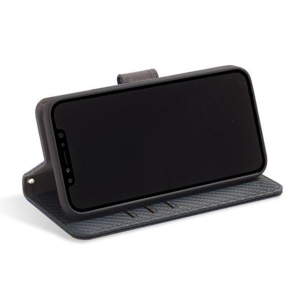 iPhone XR RFID blocking wallet convertible stand