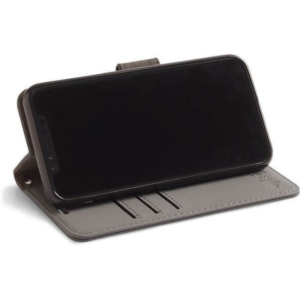 RFID blocking wallet and turns into a stand