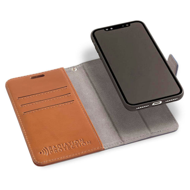 Brown iPhone 11 Pro MAX Anti-Radiation Detachable Wallet Case