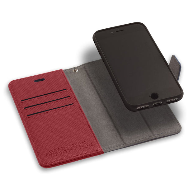 Red Phone 6, 6s, 7 & 8 RFID Blocking Detachable Wallet Case