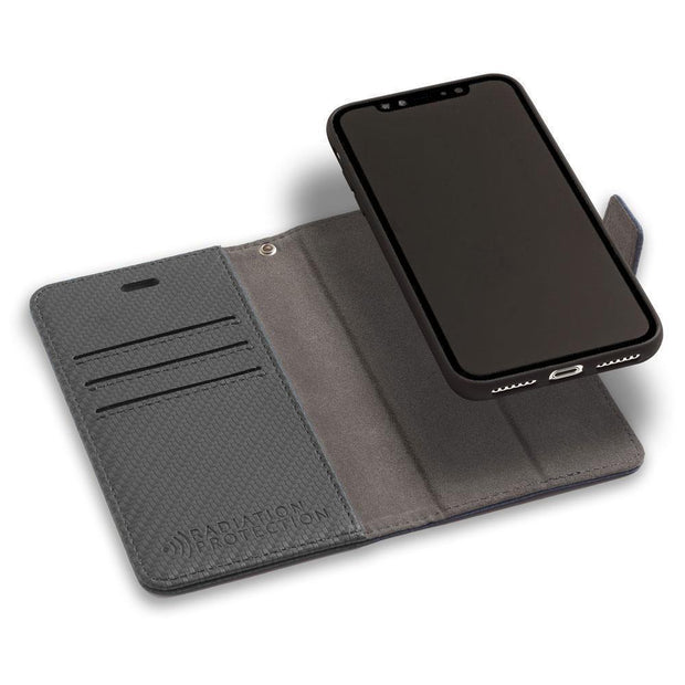 Anti-Radiation and RFID Blocking Wallet Case Detachable for iPhone 11