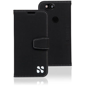 Black Google Pixel Anti-Radiation and RFID Blocking Wallet Case