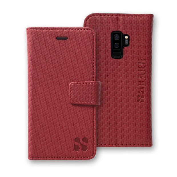 Red SafeSleeve Detachable Wallet Case for Samsung Galaxy S9 Plus