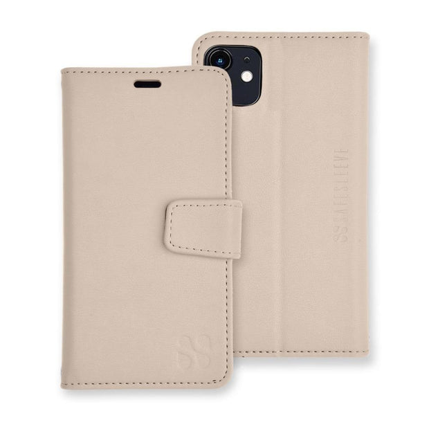 Cream color iPhone 11 Detachable Wallet Case
