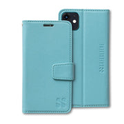 Turquoise Anti-Radiation and RFID blocking Wallet Case