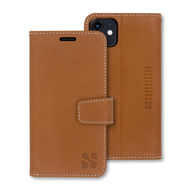Brown Detachable Wallet Case for iPhone 11