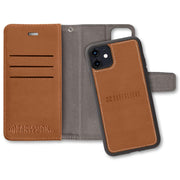 Brown SafeSleeve Detachable Wallet Case for iPhone 11