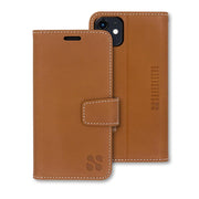 Brown Anti-Radiation and RFID blocking Wallet Case for the iPhone 11