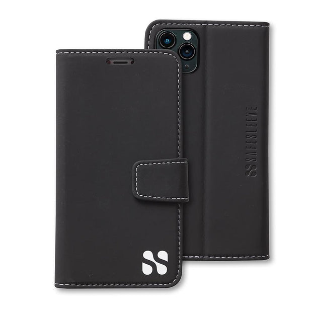 Black iPhone 11 Pro MAX Anti-radiation Wallet Case