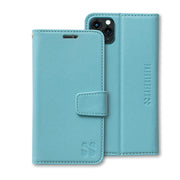 Turquoise SafeSleeve built-in RFID blocking wallet