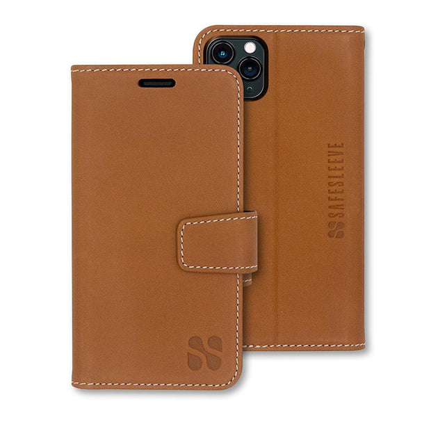 Brown SafeSleeve iPhone 11 Pro MAX Wallet Case