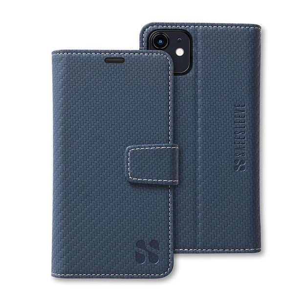 Blue iPhone 11 Anti-Radiation and RFID Blocking wallet case