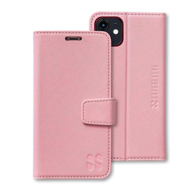 Pink iPhone 11 Anti-Radiation and RFID blocking Wallet Case