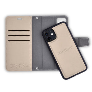 Cream Color Detachable Wallet Case for iPhone 11 Pro