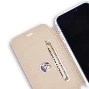 beige iPhone 11 Pro anti-radiation slim folio case
