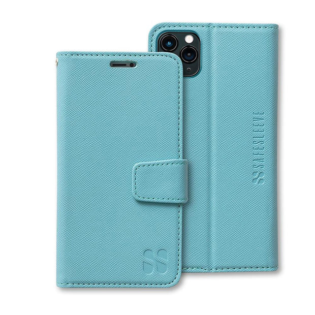 Turquoise Color iPhone 11 Pro Anti-Radiation Wallet Case
