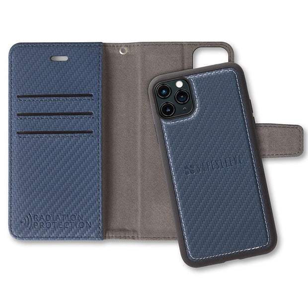Blue Anti-Radiation and RFID Blocking Wallet Case for the iPhone 11 Pro