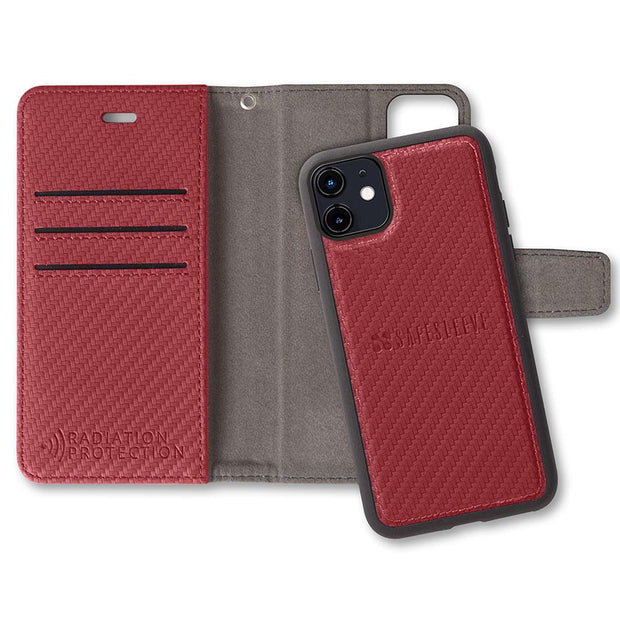 Red SafeSleeve Detachable Anti-Radiation Wallet Case
