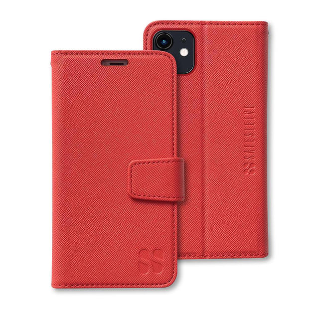 Red iPhone 11 Anti-Radiation and RFID blocking Wallet Case