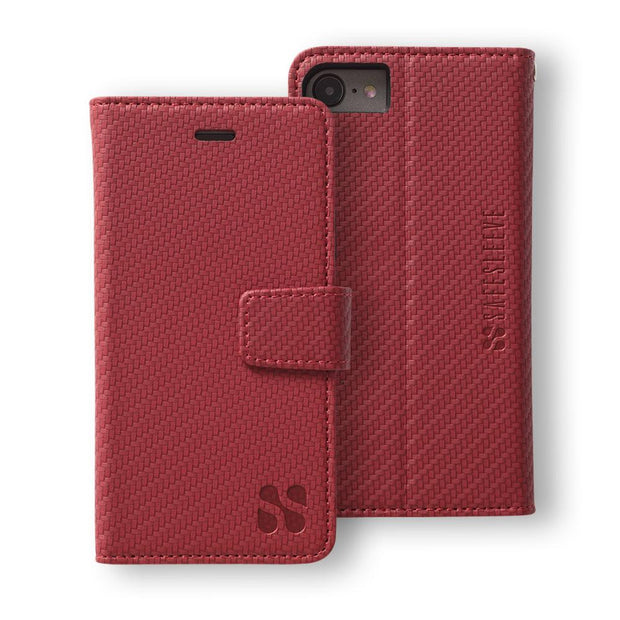 Red Anti-Radiation and RFID Blocking Wallet Case for the iPhone 6, 6s, 7 & 8