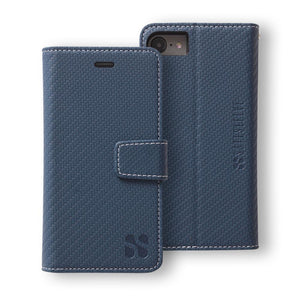 Blue iPhone 6 Plus/6s Plus, 7 Plus & 8 Plus Anti-Radiation and RFID Blocking Wallet Case