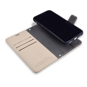 Cream iPhone 11 SafeSleeve Detachable Wallet Case