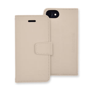 beige anti-radiation blocking wallet case for iPhone 6 Plus, 7 Plus & 8 Plus