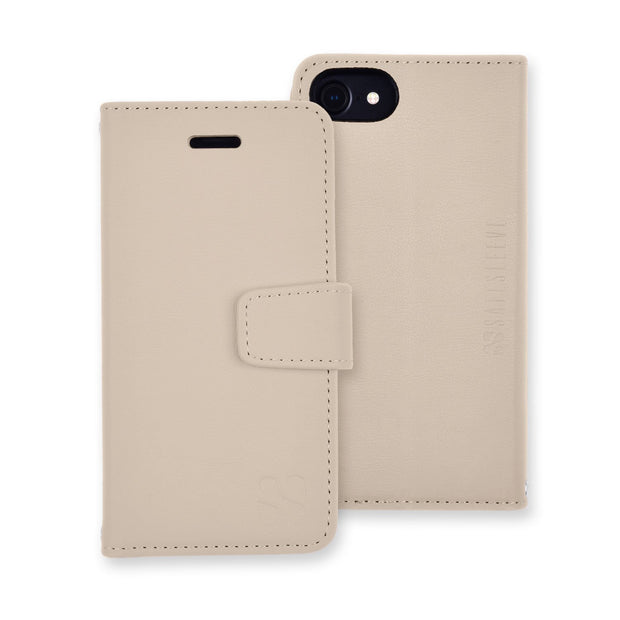 beige iPhone 6/6s, 7 & 8 anti-radiation wallet case