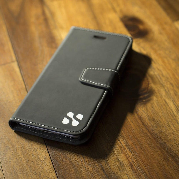 black Samsung Galaxy S10 RFID Blocking Wallet Case