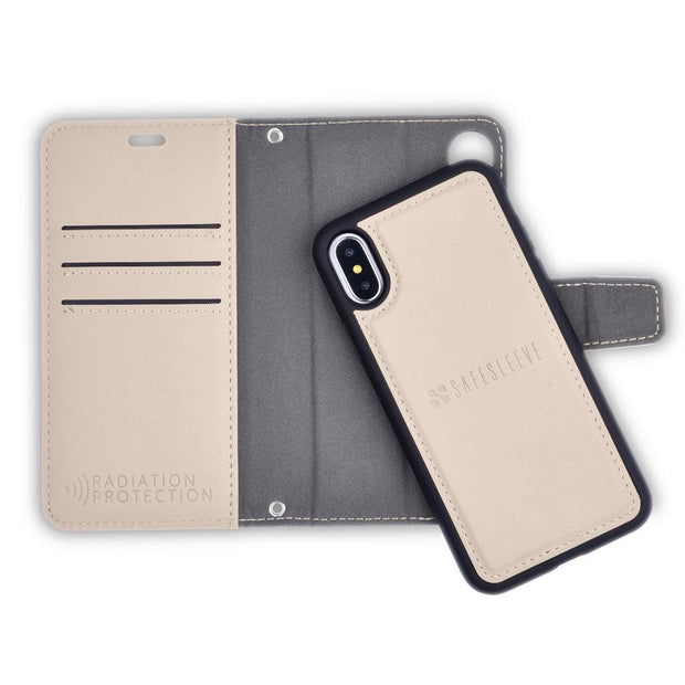 Tan iPhone Xs Max Detachable Wallet Case