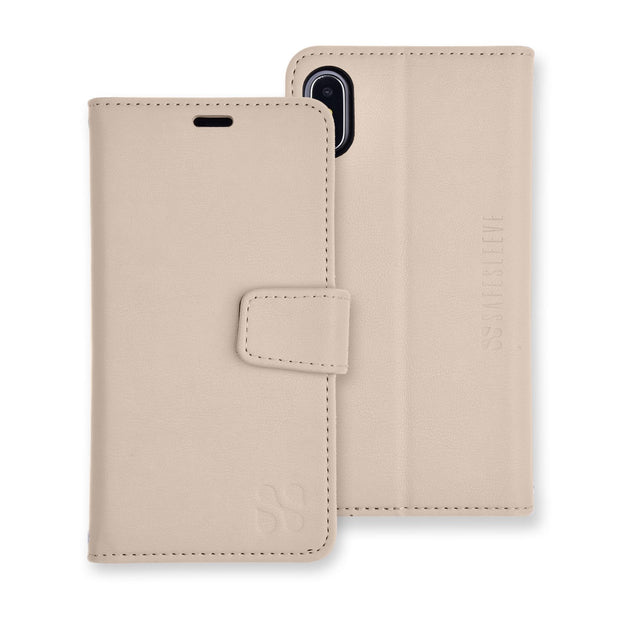 beige iPhone Xs Max (10s Max) wallet case