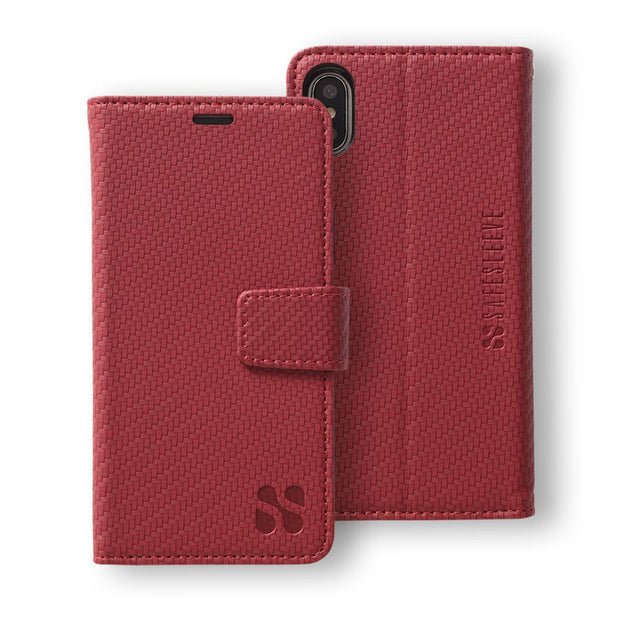 Red SafeSleeve Detachable Wallet Case for iPhone X/Xs