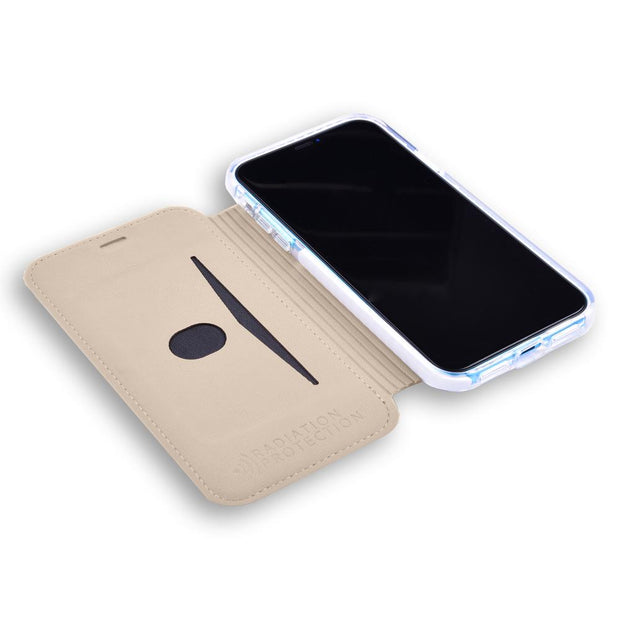 beige SafeSleeve anti-radiation slim case for iPhone X/Xs