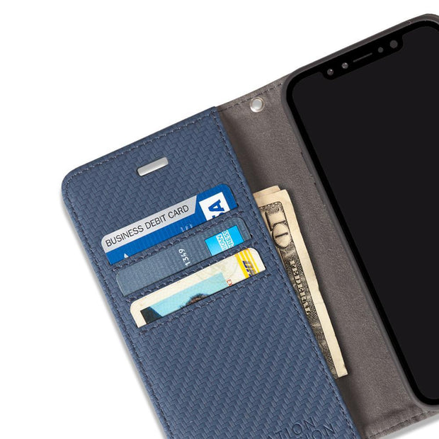 iPhone Xs Max RFID blocking wallet case