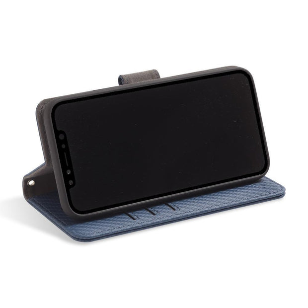 iPhone 11 RFID blocking wallet with convertible stand