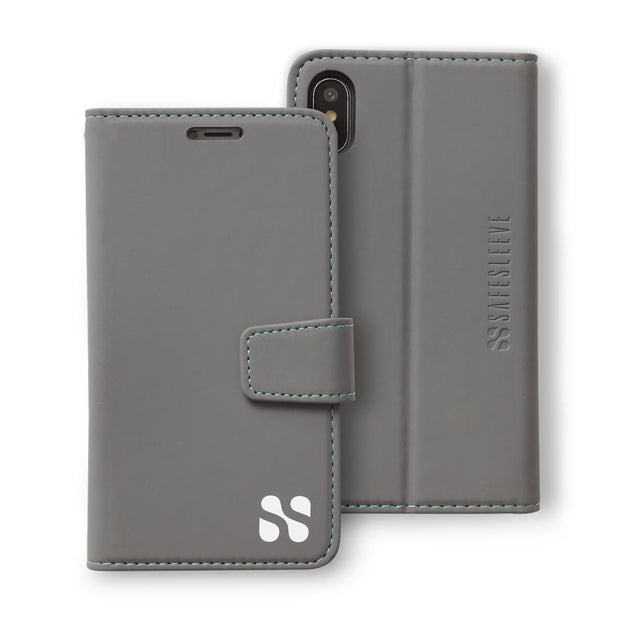 grey iPhone X/Xs (10/10s) RFID blocking wallet case