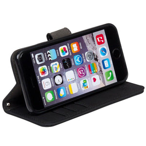 iPhone 6 Plus, 7 Plus & 8 Plus RFID blocking wallet turns into stand