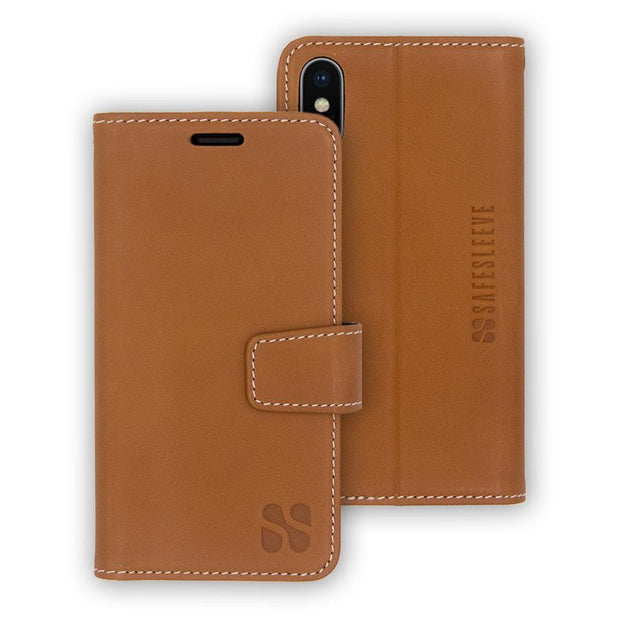 light brown  iPhone X/Xs (10/10s) anti-radiation and RFID blocking wallet case