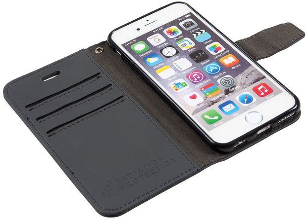 grey iPhone 6 Plus, 7 Plus & 8 Plus anti-radiation wallet case
