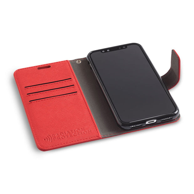 red iPhone XR (10 R) RFID blocking wallet case