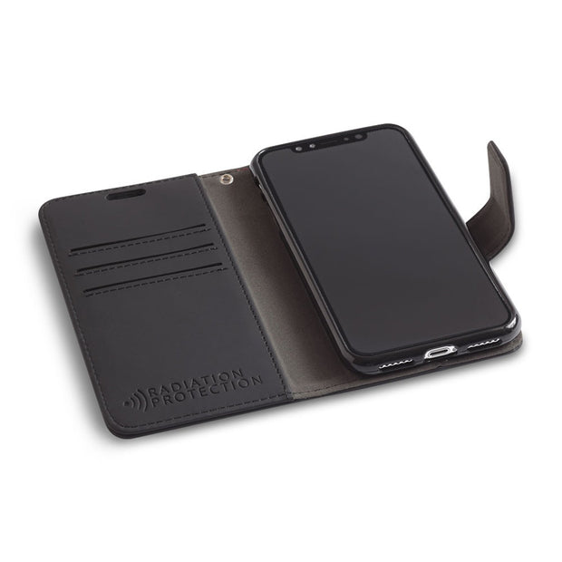 black anti-radiation wallet case for iPhone X/Xs (10/10s)