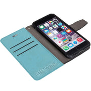 lightweight sky blue iPhone 6/6s, 7 & 8 anti-radiation wallet case