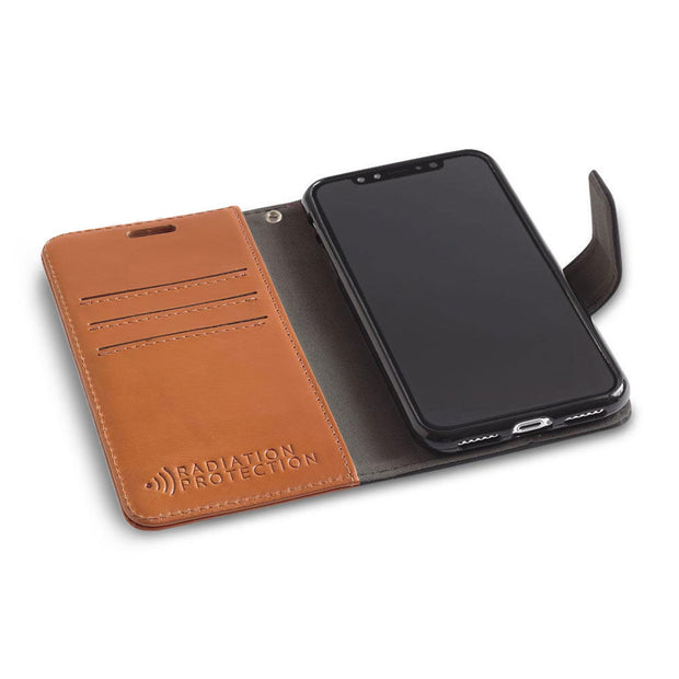 light brown iPhone XR (10 R) RFID blocking wallet case