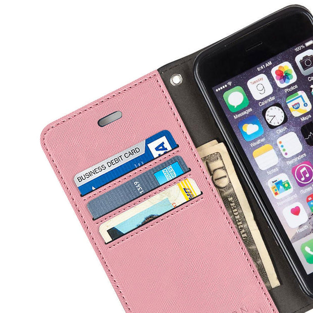 Pink iPhone 6/6s PLUS, 7 PLUS & 8 PLUS Anti-radiation wallet case