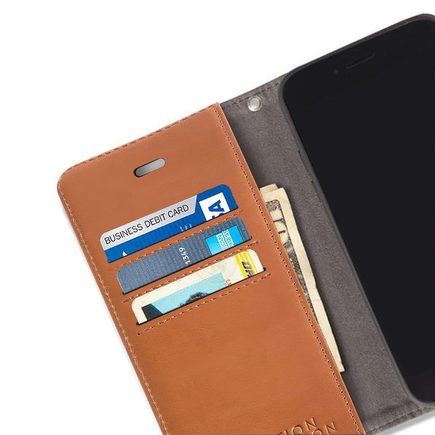 Brown iPhone 6 Plus/6s Plus, 7 Plus & 8 Plus Anti-Radiation Wallet Case