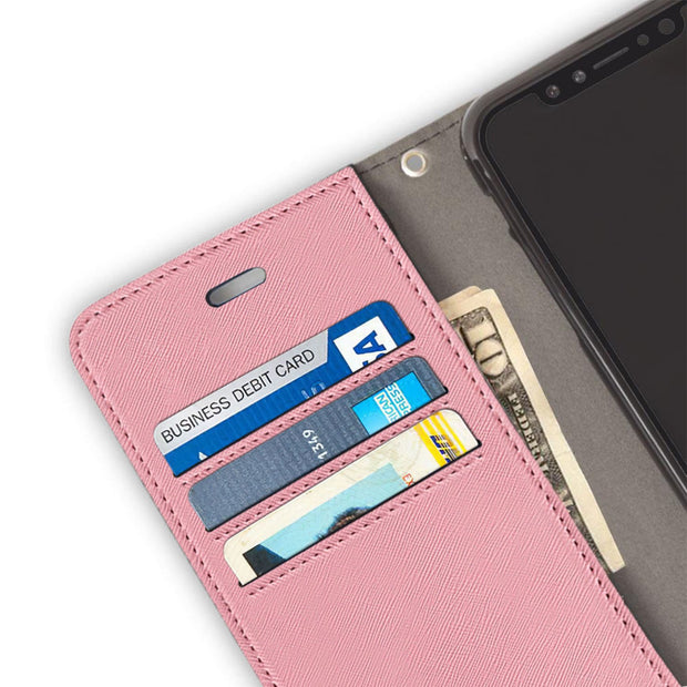 pink anti-radiation wallet case for iPhone Xs Max (10s Max)