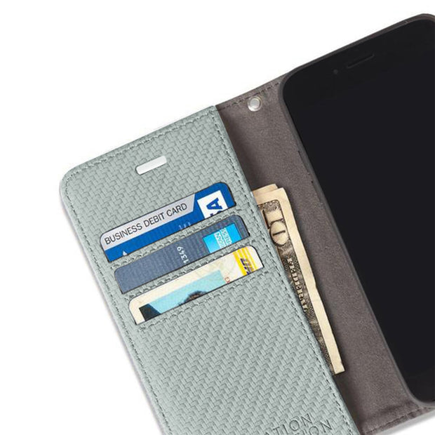 Grey Anti-Radiation Wallet Case for the iPhone 6, 6s, 7 & 8.