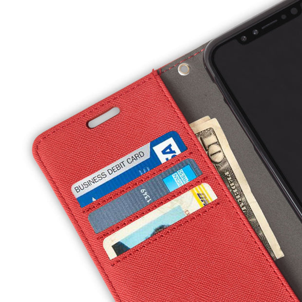 red iPhone Xs Max (10s Max) anti-radiation wallet case