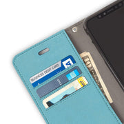 Turquoise iPhone 11 RFID blocking Wallet Case