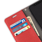 Red iPhone 11 RFID blocking Wallet Case